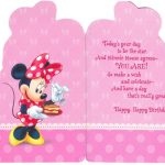 minnie mouse birthday invitations sample 150x150