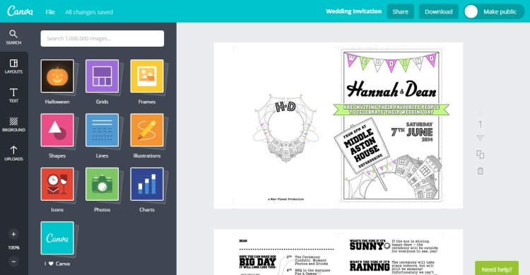 Canva invitation maker