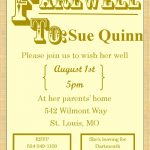 Farewell invitation sample 150x150