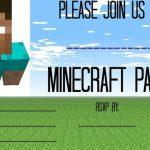 Free Minecraft party invitation template 150x150