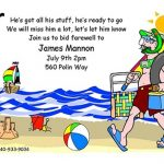 Funny going away invitation sample 150x150