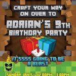 Minecraft birthday invitation sample 150x150