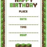 Templates for minecraft party invitations minecraft birthday party invitation template 150x150 pronofoot35fo Choice Image