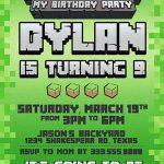 Minecraft birthday party invitations 150x150