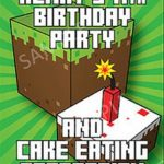 Minecraft party invitation sample 150x150