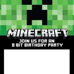 Minecraft party invitation template 150x150