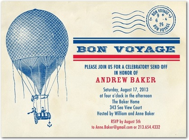 Going Away Party Invitation Template from www.showerinvitationsonline.com