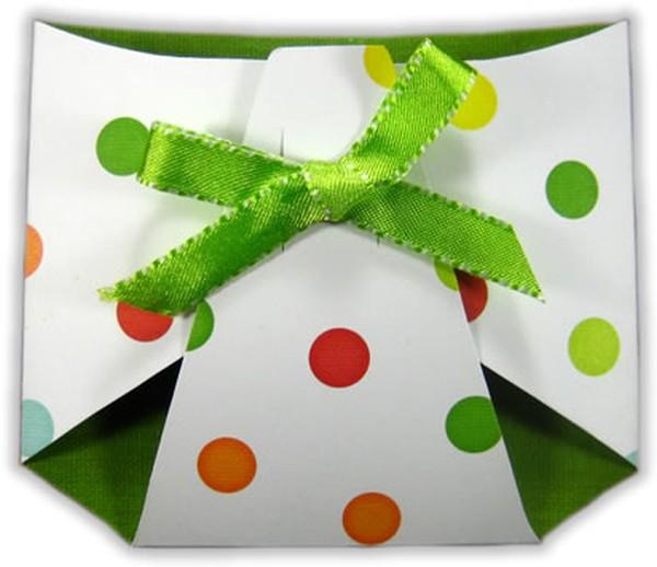 Cute green diaper invitation