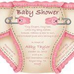 Cute pink diaper baby shower invitation sample 150x150