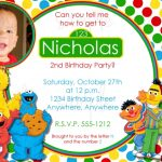 Personalized Sesame street invitation sample 150x150