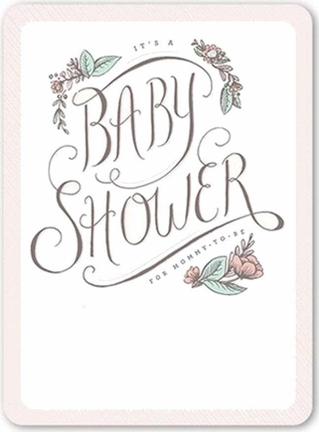 baby shower invitation for girls
