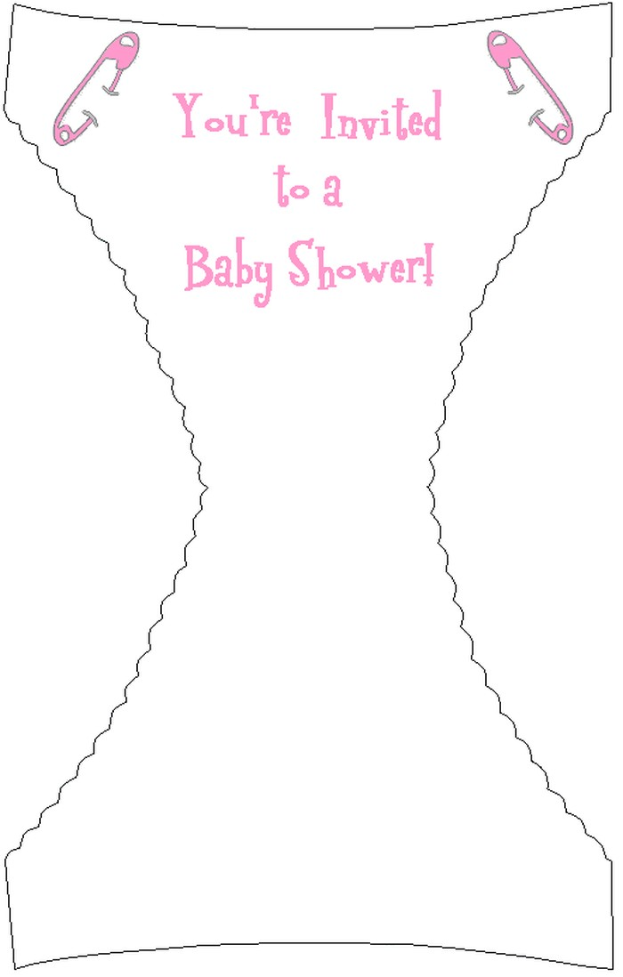 diaper baby shower invitation template for girl