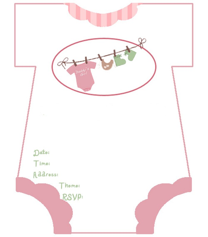 Diaper Baby Shower Invitations Free Template  Invitations Online