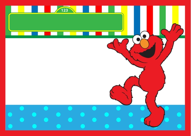 elmo birthday invitation free template
