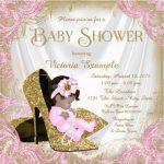 glitter baby girl shower invitation sample 150x150