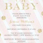 pink and gold baby girl shower invitation 150x150