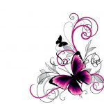 purple damask invitation template 150x150