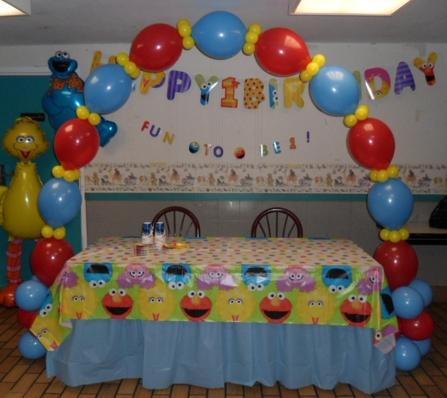 sesame street birthday decoration