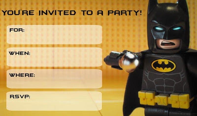 Batman Free Printable Invitation Templates Invitations