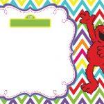 Elmo Invitation template 150x150
