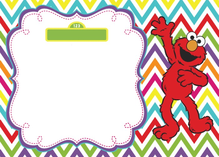 Elmo Invitation Template  Invitations Online