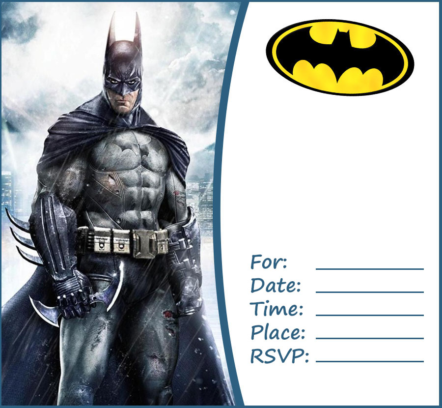 Free Batman Party Invitation Template | Invitations Online