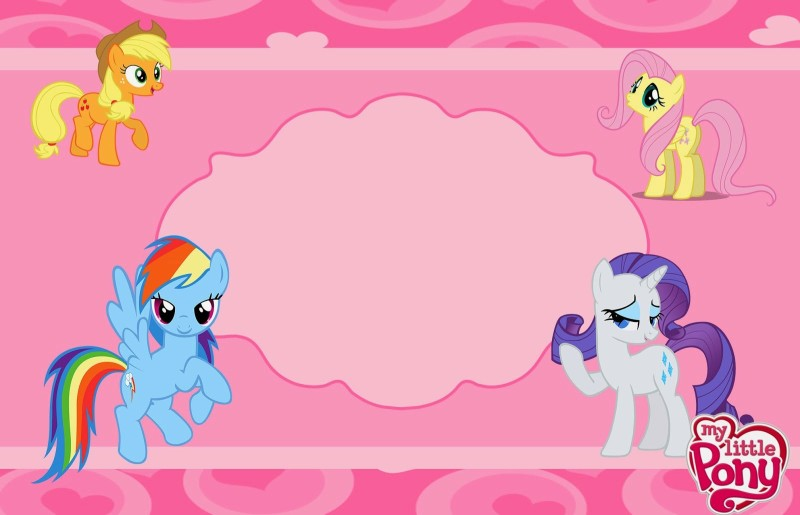 Free Invitation Template for Girls - My Little Pony