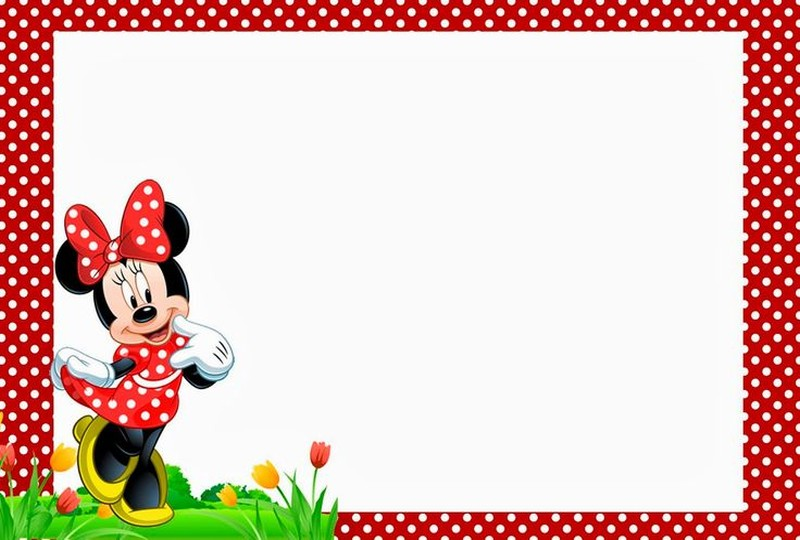 free minnie mouse birthday party invitation template | invitations, Invitation templates