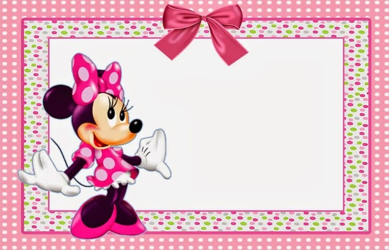 Free Minnie Mouse Printable Invitation Template  Free Birthday Party Invitation Templates For Word