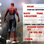 Free Party Invitation template Spider man 150x150