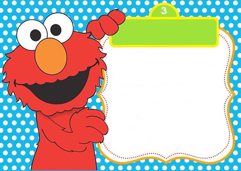 Free Printable Elmo Innvitation