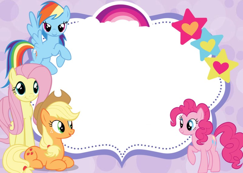 free printable invitations my little pony