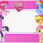 Free Printable My Little Pony Invitation Template 150x150
