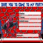 Free Spiderman Party Invitation 150x150