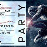 Free Spiderman Party Invitation template 150x150