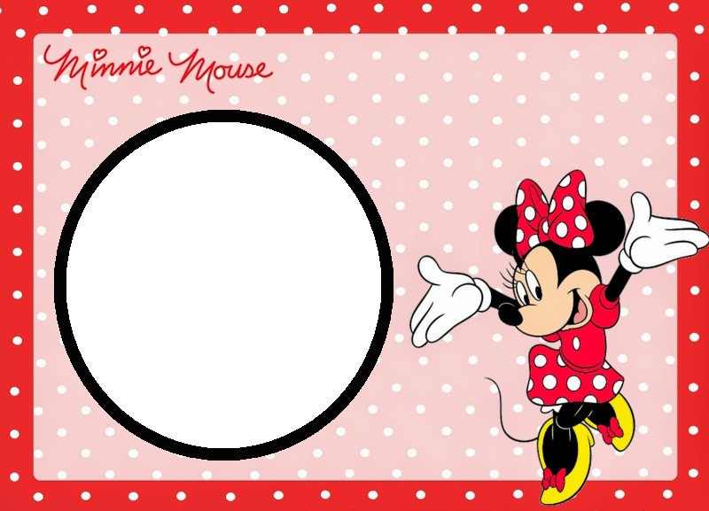 Minnie Mouse Free Template  Free Template Invitation