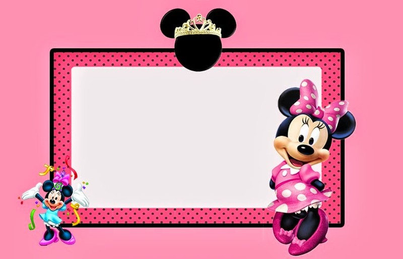 Minnie Mouse Pink printable invitation template Invitations Online