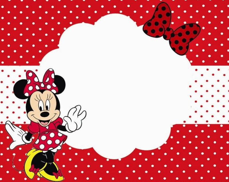 Minnie Mouse Printable Party Invitation Template for Girls ...