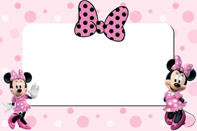 Minnie Mouse Printable Invitation Card