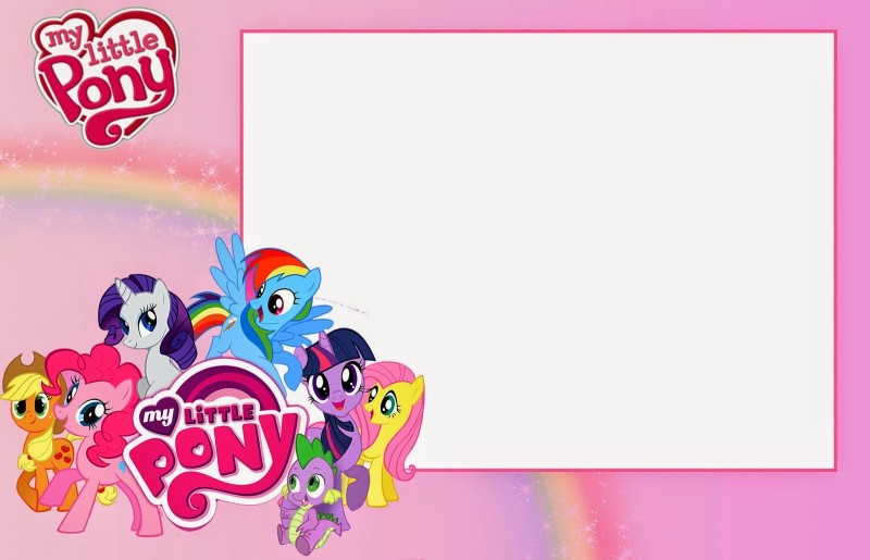 My Little Pony Free Printable Invitation Templates - My little pony birthday party invitation template
