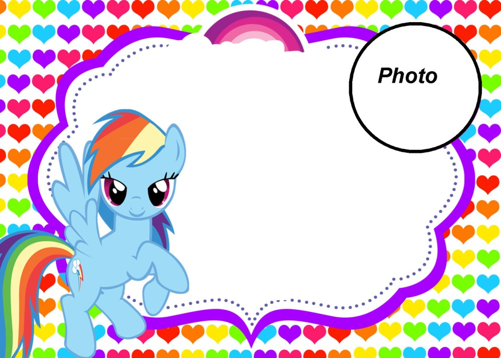 My Little Pony Party Invitation With Photo
