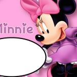 Pink Minnie Mouse Template for Birthday party Invitations 150x150
