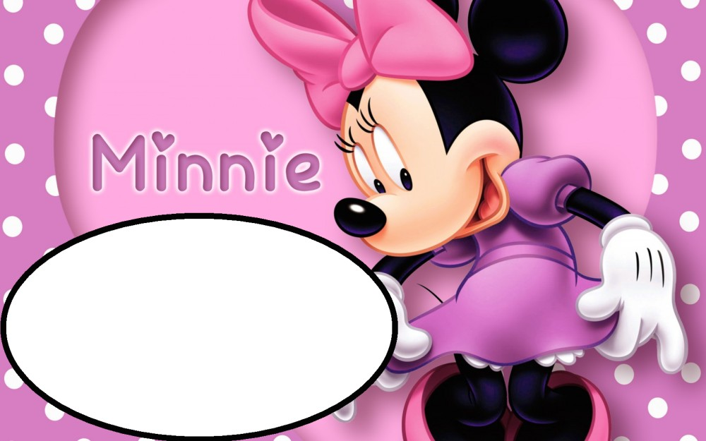 Pink Minnie Mouse Template for Birthday party Invitations – Free Animated Birthday Invitations