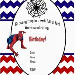Printable spiderman birthday invitation 150x150