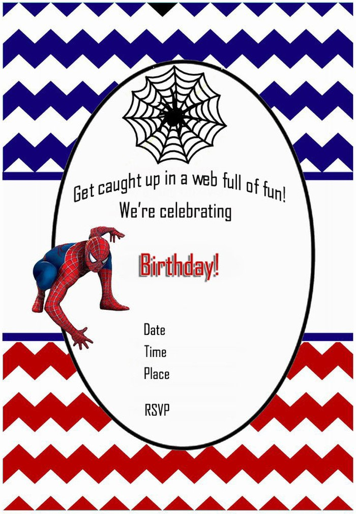Printable spiderman birthday invitation – Online Photo Birthday Invitations