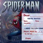 Spiderman Printable Invitation Template 150x150