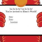 sesame street elmo invitation template Invitations Online