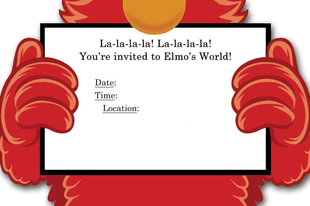 printable free elmo invitation | invitations online, Birthday invitations