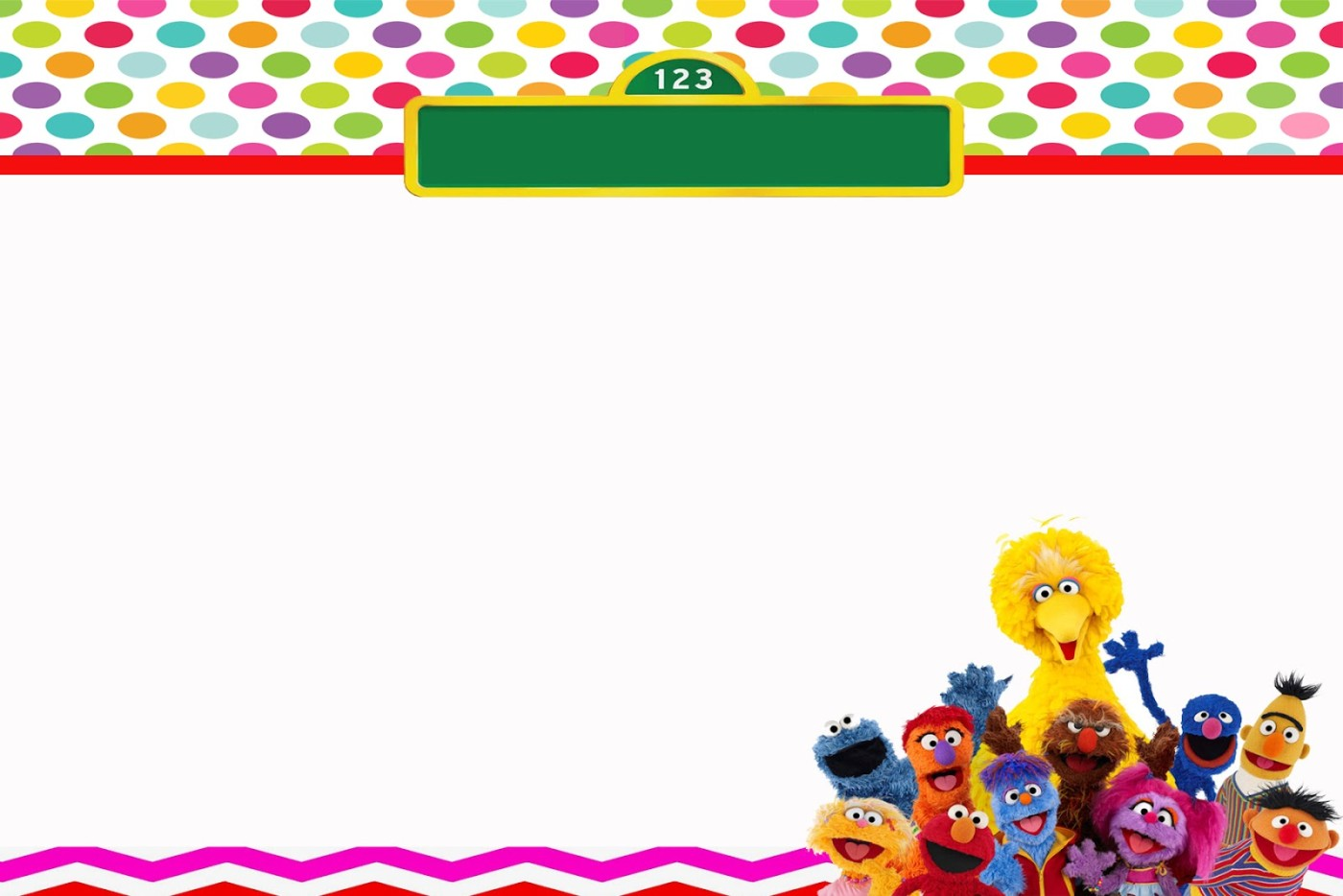 sesame street invitation free template Invitations Online