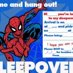 spiderman sleepover party invitation template 150x150